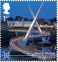 Peace Bridge over the Foyle, Derry-Londonderry.