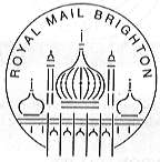 Postmark showing ROyal Pavilion Brighton.