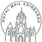 Permanent postmark of Edinburgh showing St Giles Cathedral.